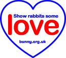 USE THIS Blue heart show rabbits some love
